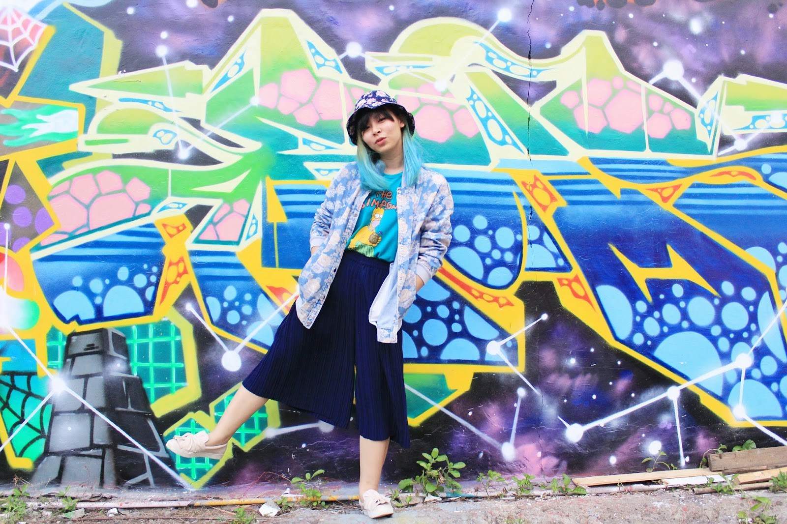 Graffiti Wall outfit | www.bigdreamerblog.com