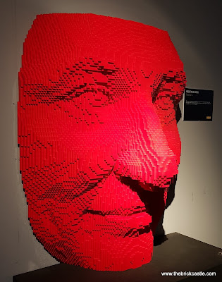 The Art Of The Brick red face mask huge model head LEGO brick model