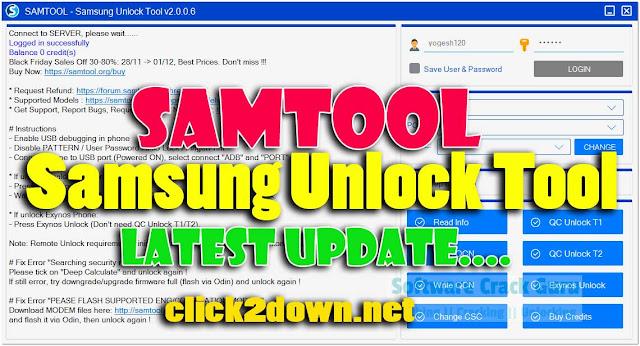 Download SAMTool - Samsung Unlock Tool v2.0.0.6 Latest Version [2020]