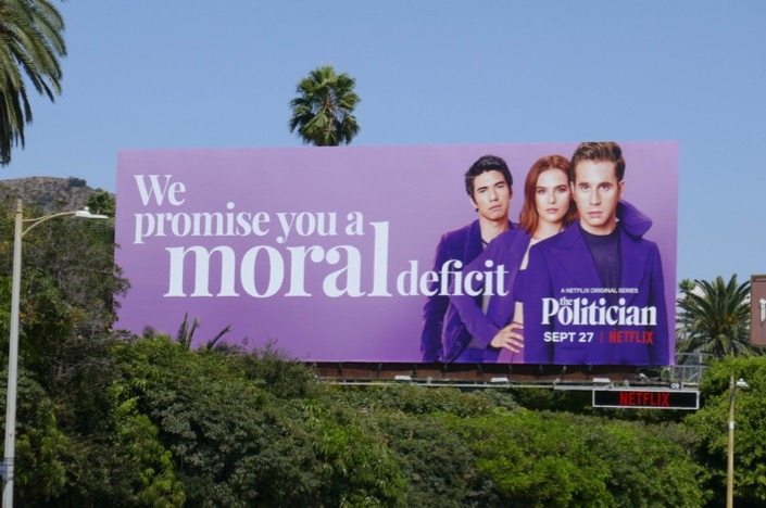 promise you a moral deficit Politician billboard