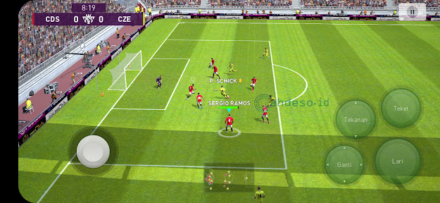 Setting PES 2021 Mobile ke Grafis Tinggi dan Frame Rate 60fps