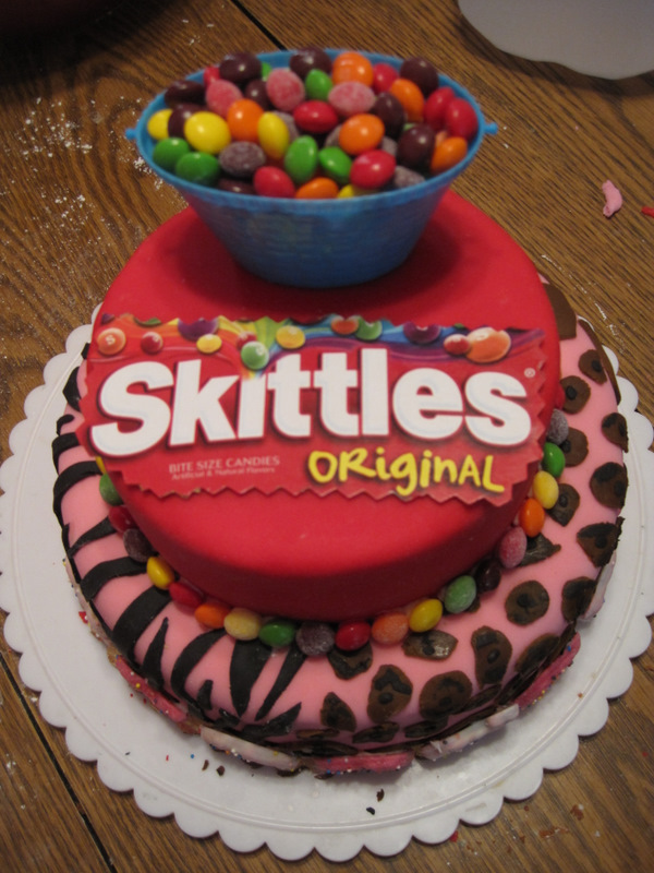 Fun With Fancy Flour Skittles Cake