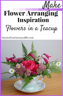 Flower arrangement inspiration ideas tea cup afternoon tea