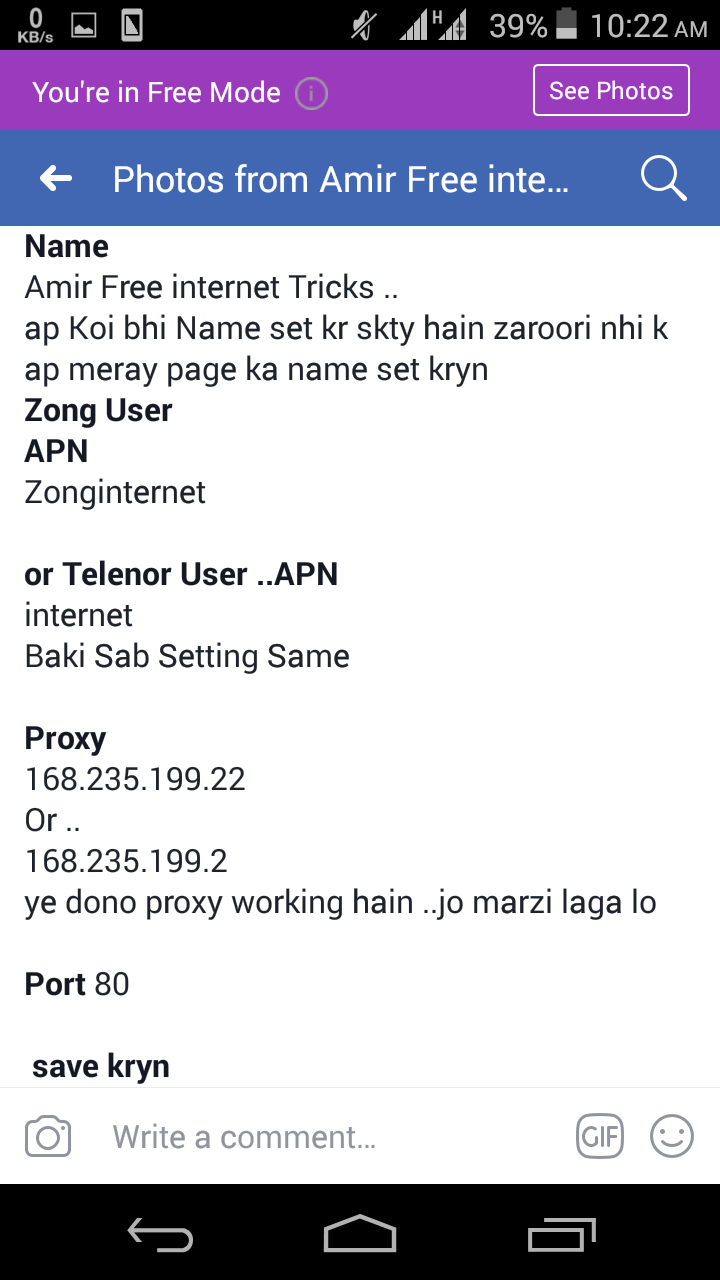 Zong Free internet New Proxy For YouTube - Amir Free internet Tricks