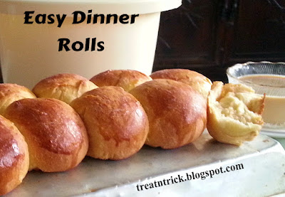 Easy Dinner Rolls Recipe @ treatntrick.blogspot.com