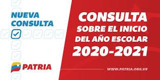 La Plataforma Patria tiene disponible la consulta sobre el inicio del año escolar 2020-2021