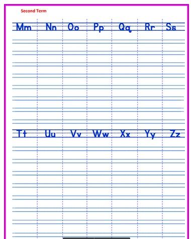 مذكرة  انجليزى للصف الثانى الابتدائى ترم ثانى2020