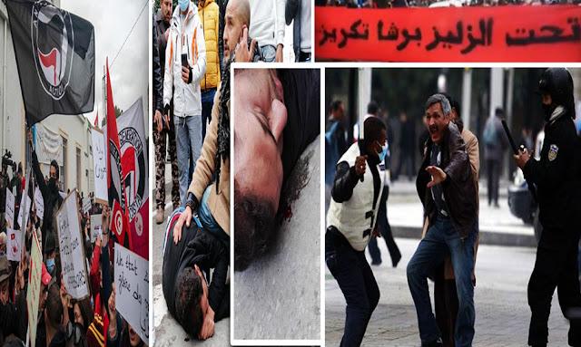 Tunisie : une répression violente de la police lors de manifestations