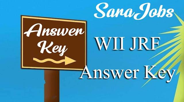 WII JRF Answer Key