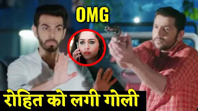 Big Shockinr!  Rohit gets gunshot fighting Sonakshi's Ex-lover Karan in Kahan Hum Kahan Tum