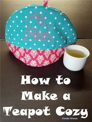 How to Make a Teapot Cozy, One of my favorites this week at Encouraging Hearts and Home, link-up your creations, right here at Scratch Made Food! & DIY Homemade Household!