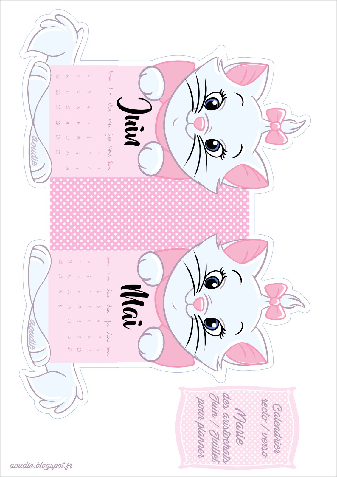 free printable marie aristocats aristochats - Aristochats Marie