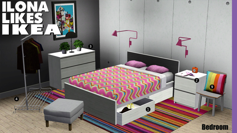 My Sims 3 Blog Ilona Likes Ikea The Bedrooms By Sandy