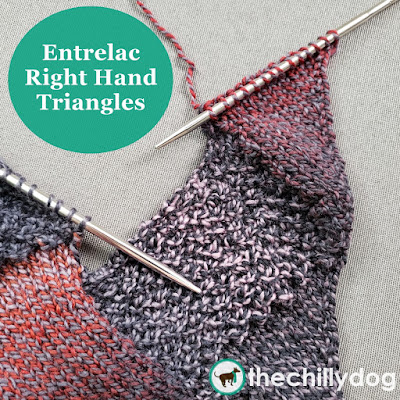 Entrelac Knitting Video Tutorial: Learn how to create Right Hand (RH) Triangles along the edge of your entrelac knitting