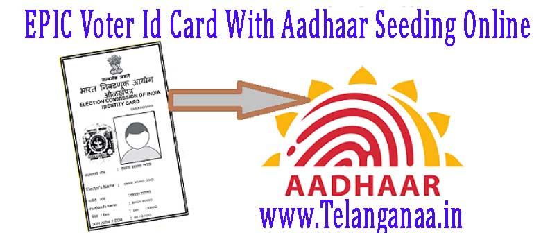 How to Link EPIC Voter ID Card with Aadhaar Card NVSP EPIC Card Aadhaar Seeding