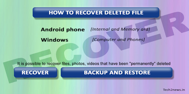 How to Recover/Restore/Backup deleted files/photos from Phone/PC/Memory