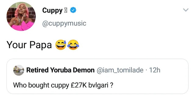 DJ Cuppy Insults Fan Who Asked Her For The Source Of Her Expensive Jewelries