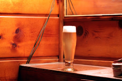 A finished glass of Low-DO Pilsner/Helles