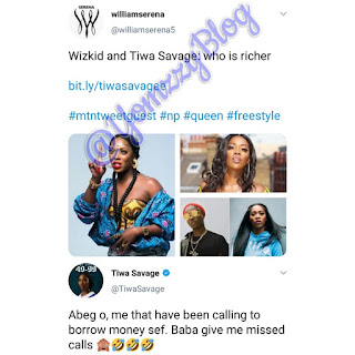 Tiwa Savage Rejects Been Richer Than Wizkid