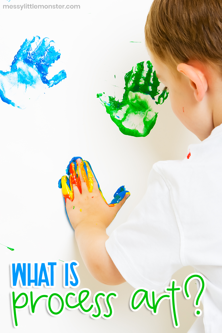 What is process art? Benefits of process based art.  Fun process art ideas for preschool, toddlers and older kids.