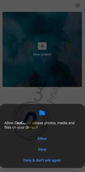 اذونات تشغيل برنامج capcut