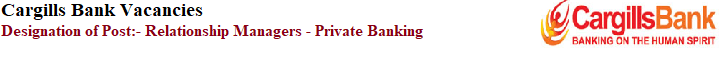 Relationship Managers - Private Banking