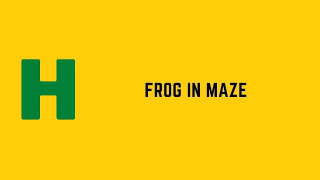HackerRank Frog in Maze problem solution