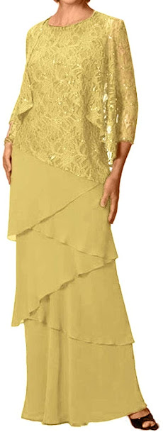 Cheap Gold Mother of The Groom Dresses,