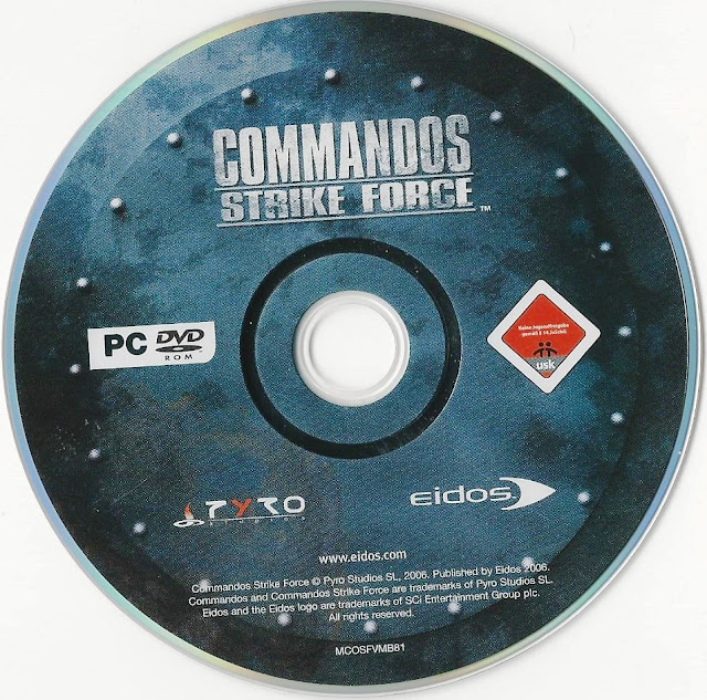 Label Commandos Strike Force PC
