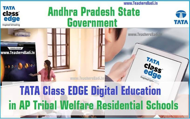 TATA Class Edge Digital Education,AP Tribal Welfare,Residential Schools