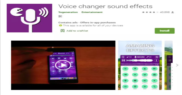 voice changer with sound effects