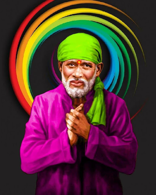 black background with sai baba images 428545.in