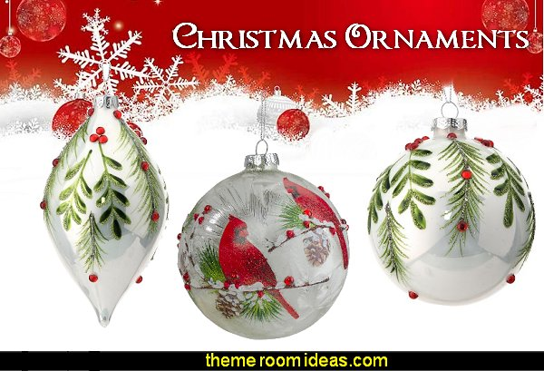 Christmas Ornaments Red Cardinals Christmas Ornament  Christmas tree decorations
