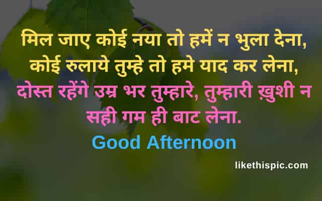 good afternoon image with shayari status