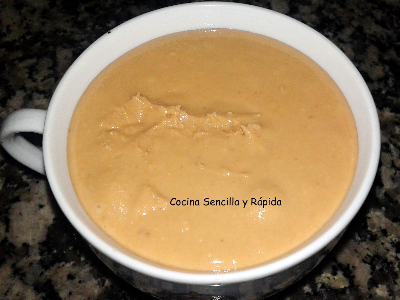 Cocina sencilla y r pida crema de cacahuete for Cocina rapida y sencilla