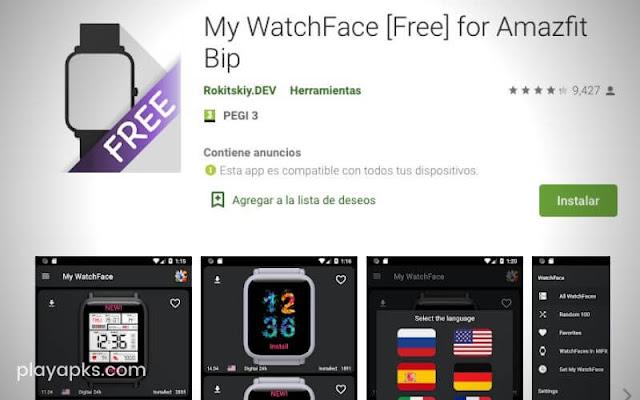 Descargar My WatchFace for Amazfit Bip para android