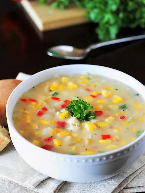 Creamy Chicken Corn Chowder Made with Cream Corn Image