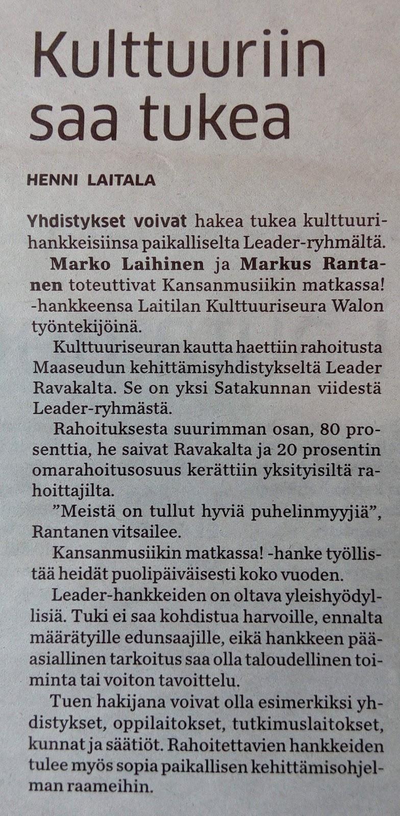 Maestro ja Fiktio Kansanmusiikin matkassa!