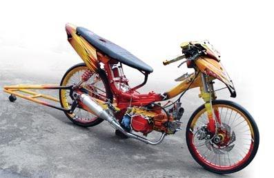 Modifikasi Motor Supra Fit