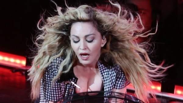 La cantante Madonna durante un concierto en Canadá