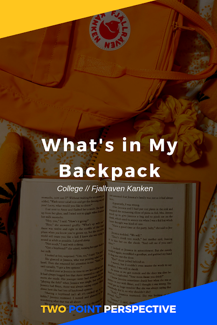My Kanken is the backpack of my dreams. It's aesthetic. It's waterproof and a lovely yellow color. Instead of making me feel like I'm lugging around a bunch of heavy school materials, it makes me feel like I'm transporting sunshine (and lots of it -- textbooks are heavy!) [CLICK THROUGH TO SEE THE INSIDE OF MY BAG]