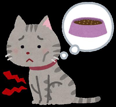 空腹な猫のイラスト