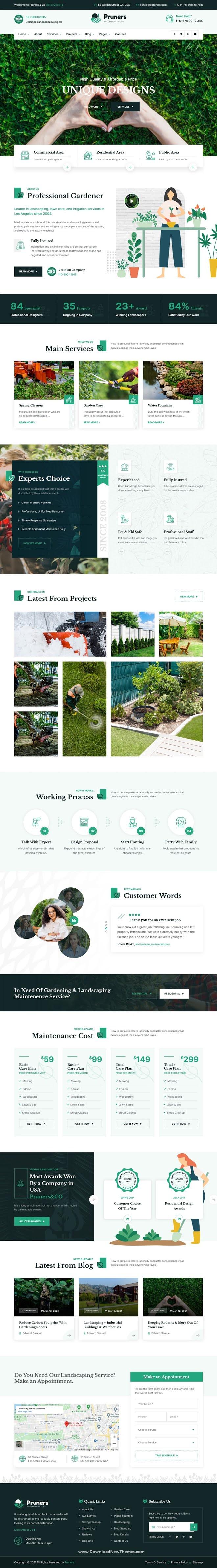 Garden Landscaper Responsive WordPress Theme
