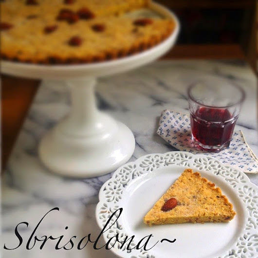 "ShowFood Chef: SBRISOLONA is an ""EASY TO MAKE""  Italian Crumble Cookie Tart"