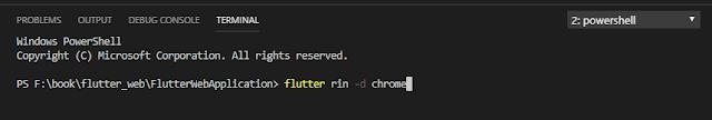 flutter web run on vs code