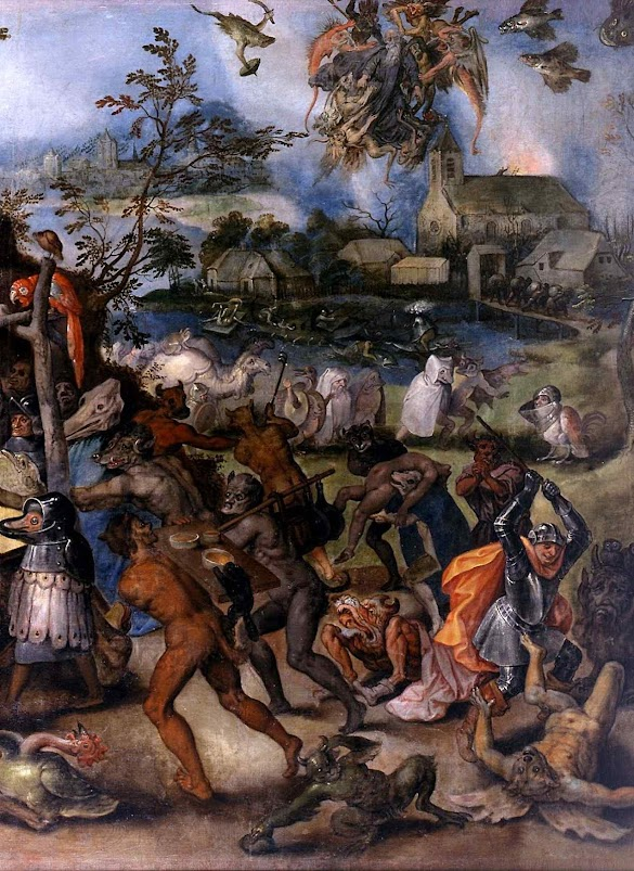 Detalhe de As tentações de Santo Antão. Jan Brueghel o Velho (1568 – 1625) Museu Nacional de Escultura de Valladolid