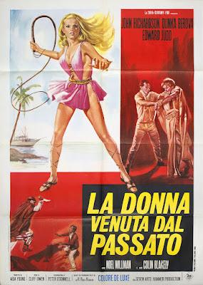 The Vengeance of She, H Rider Haggard, Olinka Berova, poster, Hammer Films