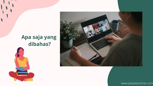 Apa saja yang dibahas tentang blog?
