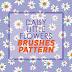 Daisy Little Flowers Brushes Pattern