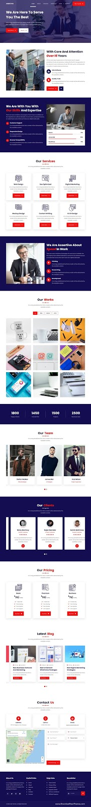 One Page Agency Website Template